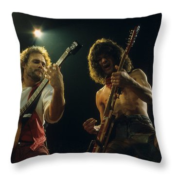 Michael And Eddie Throw Pillow