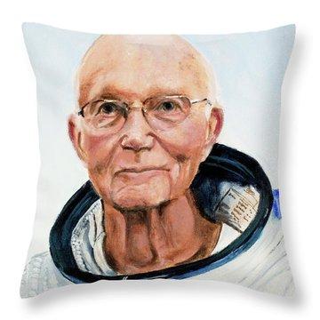 Michael Collins Throw Pillow by Simon Kregar