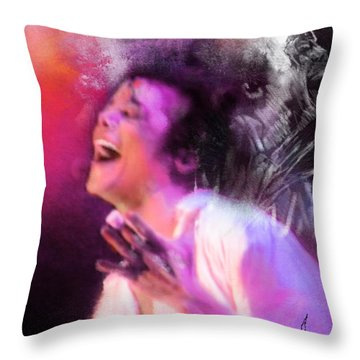 Michael Jackson 11 Throw Pillow by Miki De Goodaboom