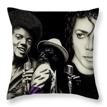Michael Jackson - The Man In The Mirror Throw Pillow
