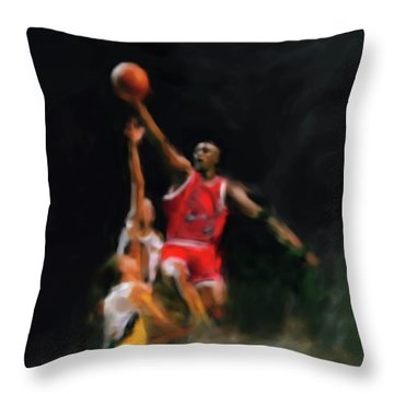 Michael Jordan 548 1 Throw Pillow by Mawra Tahreem