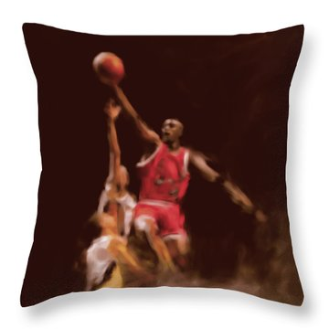Michael Jordan 548 2 Throw Pillow by Mawra Tahreem
