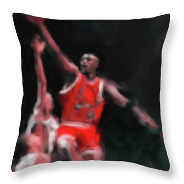 Michael Jordan 548 3 Throw Pillow by Mawra Tahreem