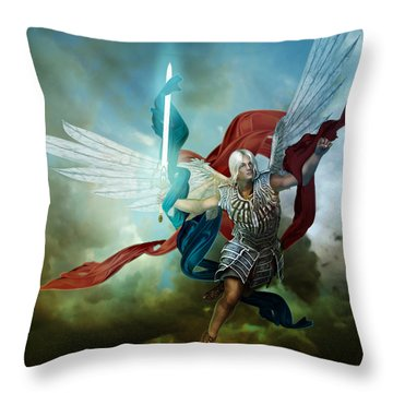 Michael Throw Pillow by Mary Hood