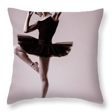 Michael On Pointe 2 Throw Pillow