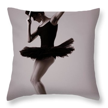 Michael On Pointe Throw Pillow