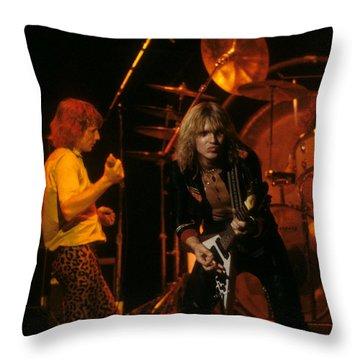 Michael Schenker Of Ufo Throw Pillow