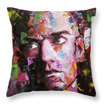 Throw Pillow featuring the painting Michael Stipe by Richard Day