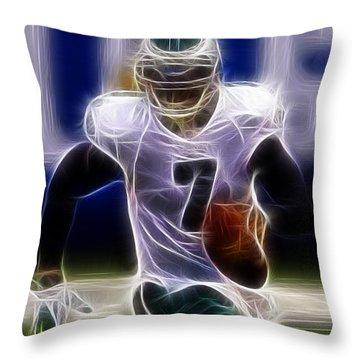 Michael Vick - Philadelphia Eagles Quarterback Throw Pillow by Paul Ward
