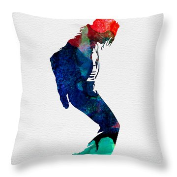 Michael Watercolor Throw Pillow by Naxart Studio