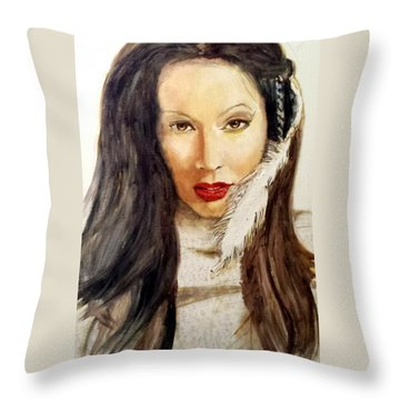 Michal Throw Pillow by G Cuffia