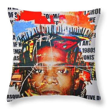 Michel Basquiat Throw Pillow