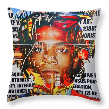 Michel Basquiat Throw Pillow