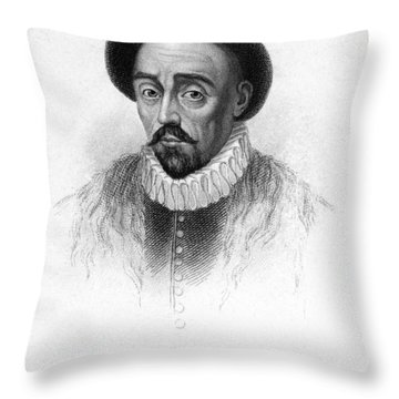 Michel Eyquem De Montaigne Throw Pillow by Granger
