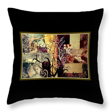 Michelangelo Collage Throw Pillow