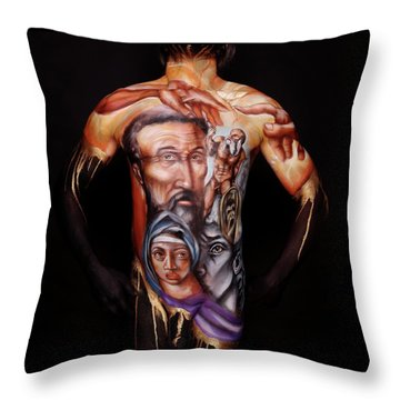 Michelangelo_i Throw Pillow by Cully Firmin