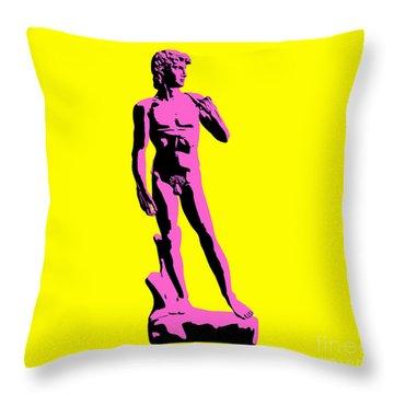 Michelangelos David - Punk Style Throw Pillow by Pixel Chimp