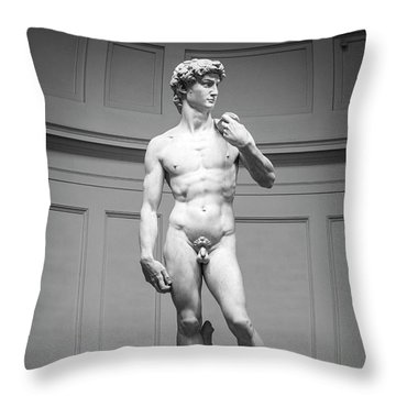 Michelangelo's David Throw Pillow by Sonny Marcyan