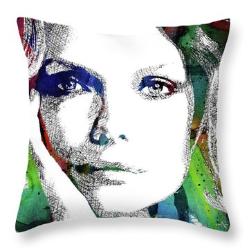 Michelle Pfeiffer Throw Pillow by Mihaela Pater