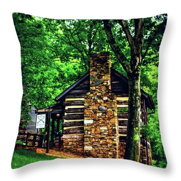 Throw Pillow featuring the photograph Michie Tavern No. 2 by Laura DAddona