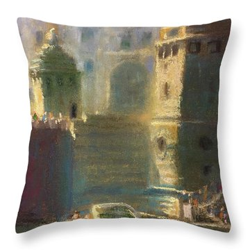 Michigan And Chicago Throw Pillow