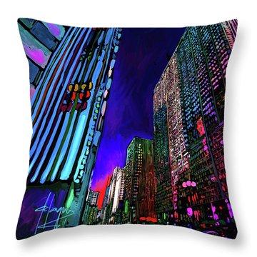 Michigan Avenue, Chicago Throw Pillow