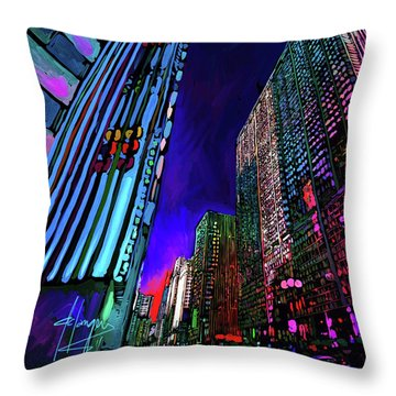 Michigan Avenue, Chicago Throw Pillow