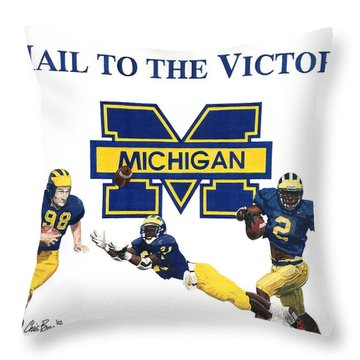Michigan Heismans Throw Pillow