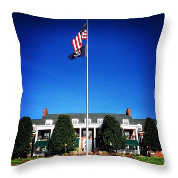 Michigan Masonic Home Throw Pillow