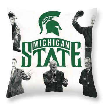 Michigan State Coaching Legends Throw Pillow