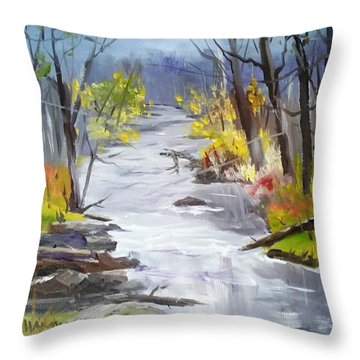 Michigan Stream Throw Pillow