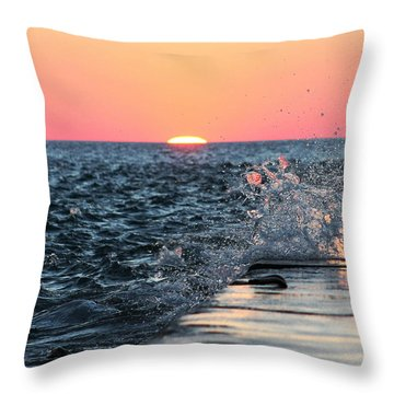 Michigan Summer Sunset Throw Pillow