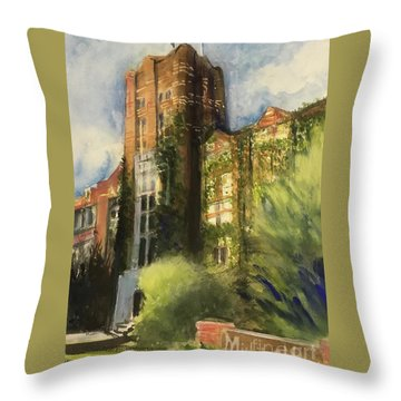Michigan Union Throw Pillow by Yoshiko Mishina
