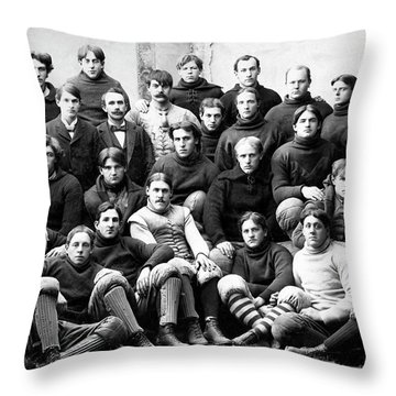 Michigan Wolverines Football Heritage  1895 Throw Pillow by Daniel Hagerman