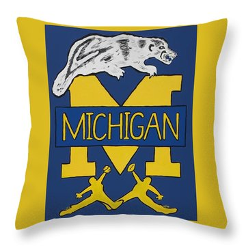 Michigan Wolverines Throw Pillow