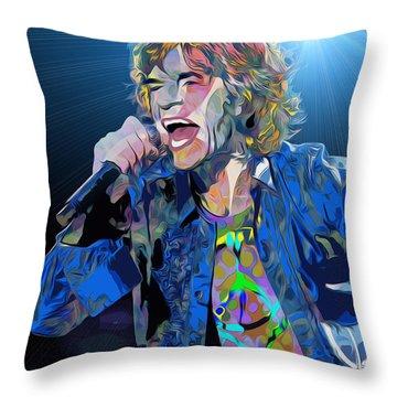 Mick Jaggar Throw Pillow