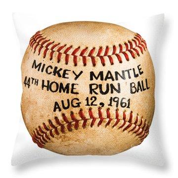 Mickey Mantle 44th Home Run Baseball August 12 1961 Throw Pillow