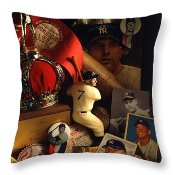 Mickey Mantle Throw Pillow by David M Spindel