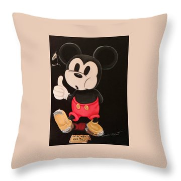 Mickey On Tap Throw Pillow