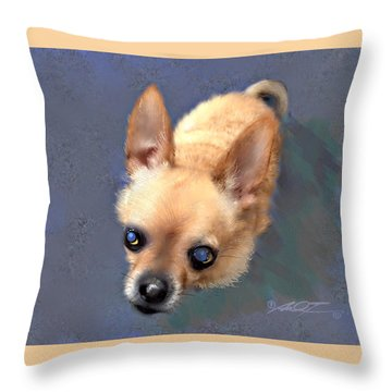 Mickey The Rescue Dog Throw Pillow