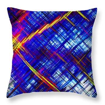 Micro Linear 6 Throw Pillow by Will Borden
