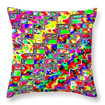 Micro-macro 3 Throw Pillow