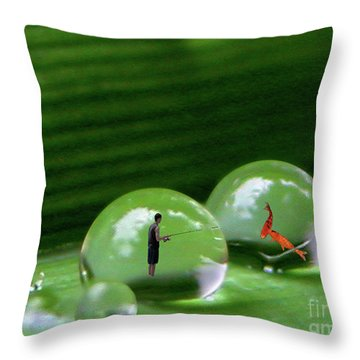 Microcosms Throw Pillow