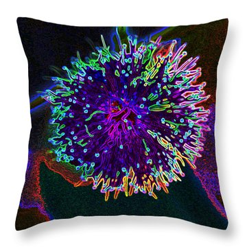 Microorganism Throw Pillow by Samantha Thome