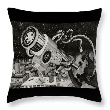 Microscope Or Telescope Throw Pillow