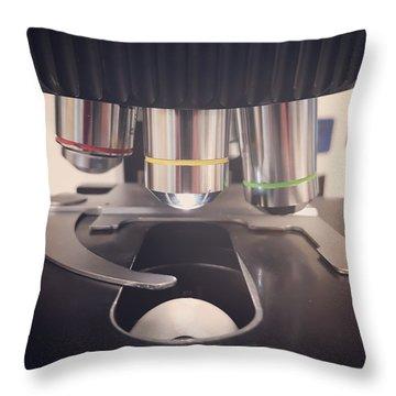 Microscope Throw Pillow