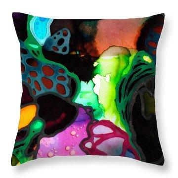 Modern Microscopic Art Throw Pillows