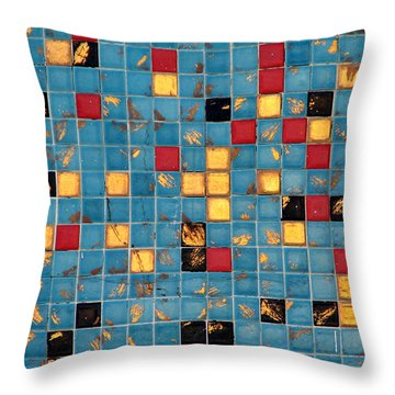 Mid Century Tiles Throw Pillow by Christopher Woods