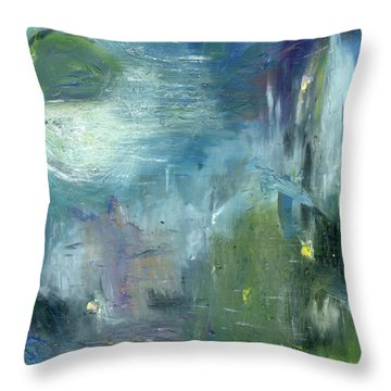 Throw Pillow featuring the painting Mid-day Reflection by Michal Mitak Mahgerefteh