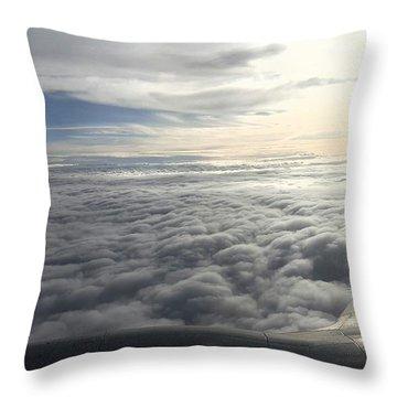 Mid Heaven Flight Throw Pillow